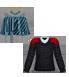 Áo quây xanh sọc, trang sức SCARLET, (HOT) - Áo len vặn thừng, lông đỏ sơmi, trắng Copper