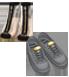 Boots cao, trong suốt, khóa đen - Nike AF1, xám ghi, mạ vàng